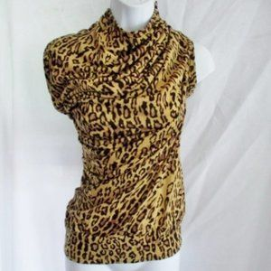 NWT NEW JUNYA WATANABE Leopard Ruched TOP